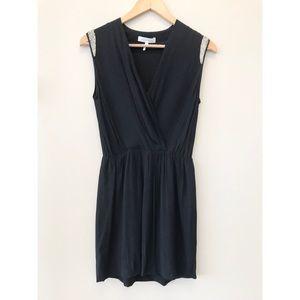 Sandro Paris Beaded Shoulder Mini Dress